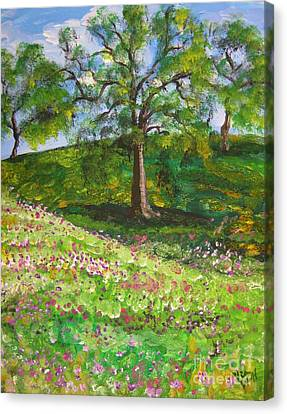 Meadowland    Painting Canvas Print by Judy Via-Wolff