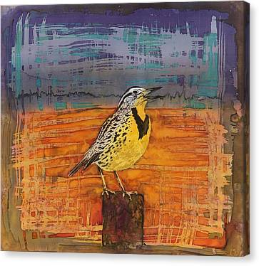 Meadowlark Canvas Print - Meadows Song by Carolyn Doe