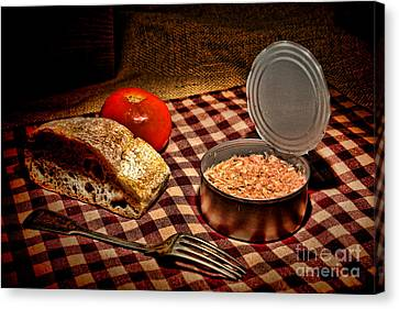 Meager Lunch Canvas Print by Olivier Le Queinec