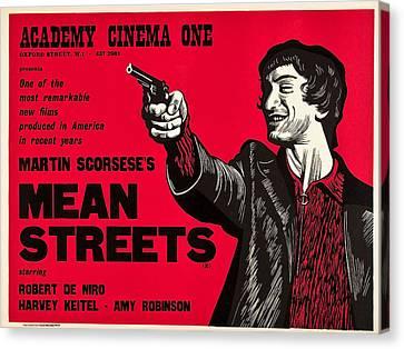 Mean Streets, Robert Deniro On Uk Canvas Print by Everett
