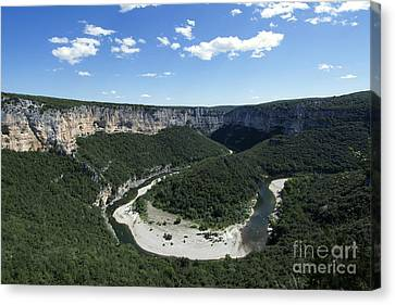 Meander. Gorges De L'ardeche. France Canvas Print by Bernard Jaubert