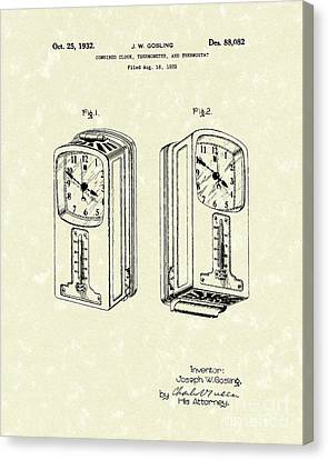 Measuring Device 1932 Patent Art Canvas Print