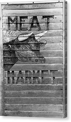 Meat Market, 1938 Canvas Print by Granger