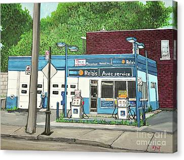 Mecanique Amical Inc. Pointe St. Charles Canvas Print by Reb Frost
