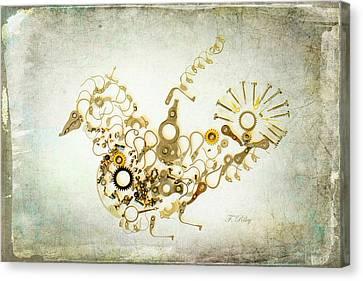 Mechanical - Bird Canvas Print by Fran Riley
