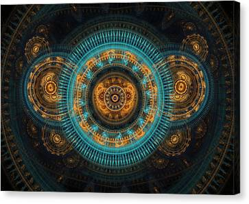 Mechanical Butterfly Canvas Print by Martin Capek