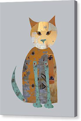 Mechanical Cat Canvas Print by Ann Powell