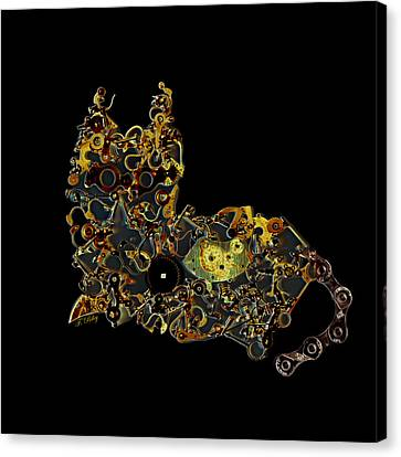 Mechanical - Cat Canvas Print by Fran Riley