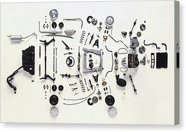 Mechanical Components Canvas Print by Dorling Kindersley/uig
