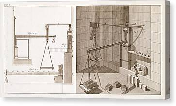 Mechanical Devices Canvas Print by Science, Industry And Business Library/new York Public Library