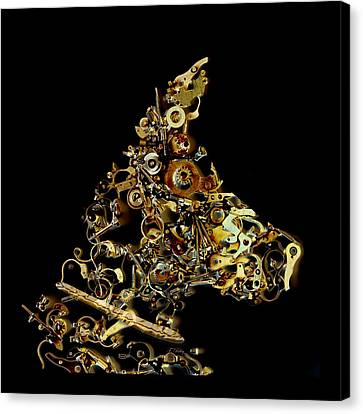 Mechanical - Dog Canvas Print by Fran Riley
