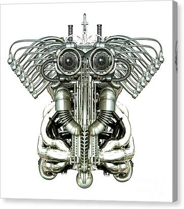 Mechanical Figure Canvas Print by Diuno Ashlee