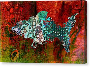 Mechanical - Fish Canvas Print by Fran Riley