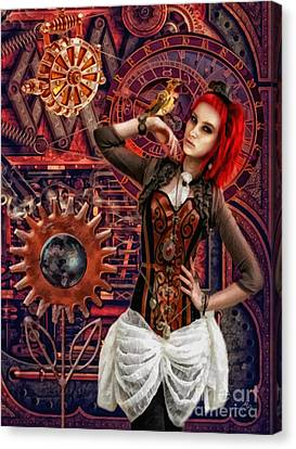 Mechanical Garden Canvas Print by Mo T