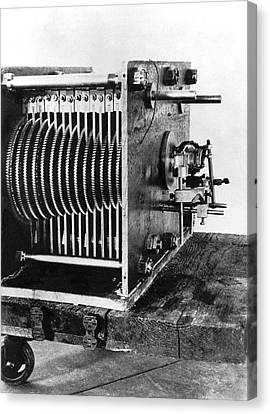 Mechanical Gear Number Sieve Canvas Print by Underwood Archives