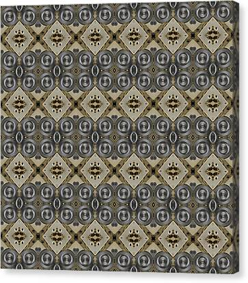 Mechanical Gears Pattern Background Canvas Print by Nenad Cerovic