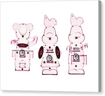Drummer Canvas Print - Mechanical Toys by Brendan Fitzpatrick