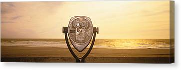 Mechanical Viewer, Pacific Ocean Canvas Print by Panoramic Images