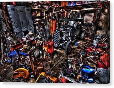 Mechanics Garage Canvas Print