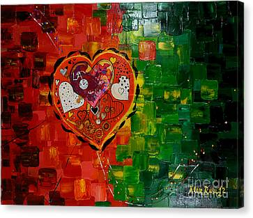Stretched Cotton Canvas Print - Mechanism Of Love by Alexandru Rusu