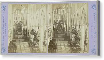 Mechelen Malines, Metropolitan Church Of St Rumbold Canvas Print by Artokoloro