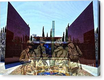 Medal Of Honor Memorial Revisited Canvas Print