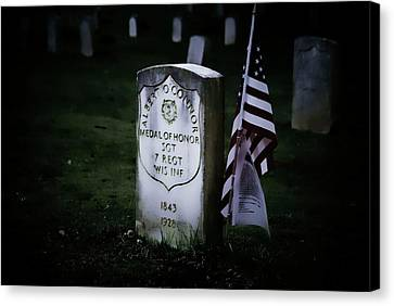 Canvas Print featuring the photograph Medal Of Honor by Ron Roberts