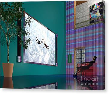 Media Room Canvas Print by Walter Oliver Neal