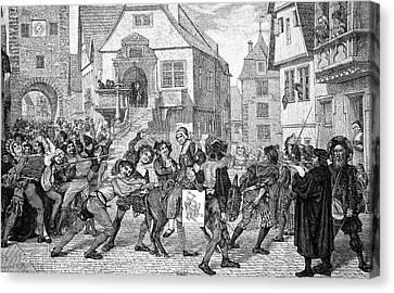 Mediaeval Unrest Canvas Print by Bildagentur-online/tschanz