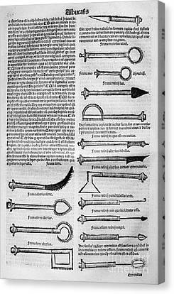 Medical Instruments, 1531 Canvas Print by Granger