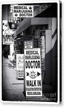 Medical Marijuana Doctor Canvas Print by John Rizzuto