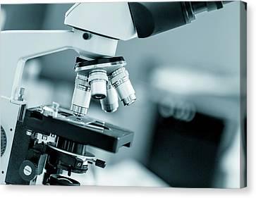 Laboratory Equipment Canvas Print - Medical Microscope by Wladimir Bulgar