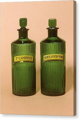 1880s Canvas Print - Medicine Bottles by Science Photo Library