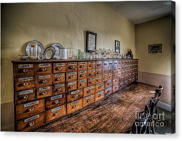 Medicine Cabinet Canvas Print by Adrian Evans