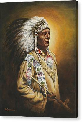 Medicine Chief Canvas Print by Kim Lockman