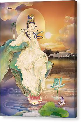 Medicine-giving Kuan Yin Canvas Print by Lanjee Chee
