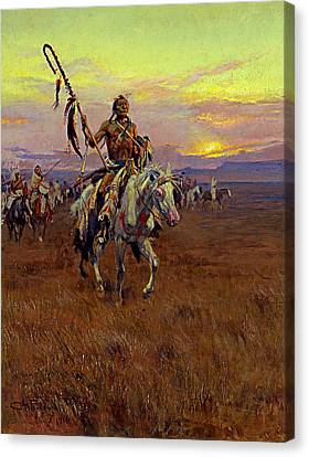 Medicine Man Canvas Print by Charles Marion Russell