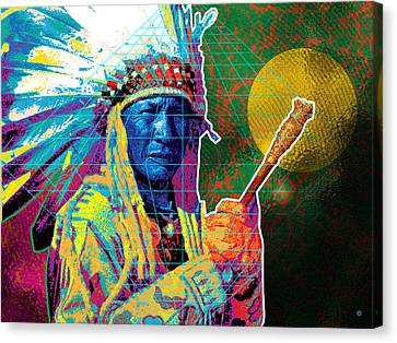 Medicine Man Canvas Print by Gary Grayson