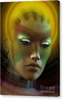 Medicine Woman B Canvas Print by Shadowlea Is