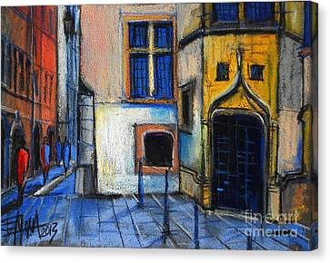 Medieval Architecture In Vieux Lyon France Canvas Print