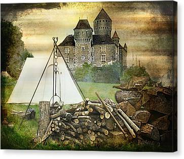 Medieval Castle Of Montrottier - France Canvas Print by Barbara Orenya