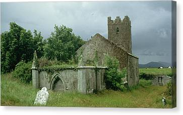 Medieval Church And Churchyard Canvas Print by Unknown