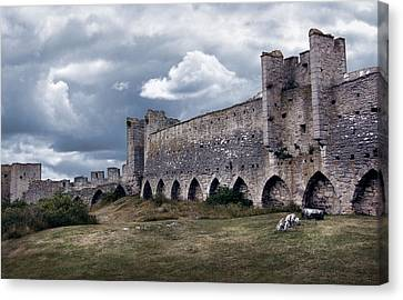 Medieval City Wall Defence Canvas Print