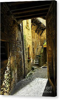 Medieval Courtyard Canvas Print by Elena Elisseeva
