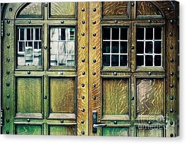 Medieval Entrance Canvas Print - Medieval Doors by Colleen Kammerer