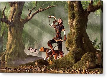 Medieval Huntress Canvas Print by Daniel Eskridge