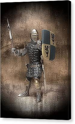 Medieval Knight Canvas Print by Aaron Berg