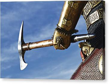 Medieval Knight And Axe Canvas Print by Holly Martin