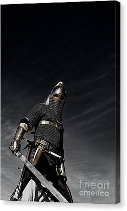 Medieval Knight With Sword  Canvas Print by Holly Martin