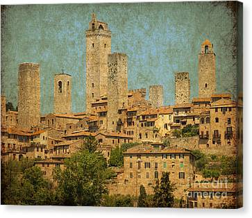 Medieval Manhatten In Italy Canvas Print by Patricia Hofmeester